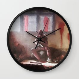 Merc With A Mouth Reloading His Guns Wall Clock