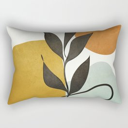 Soft Abstract Small Leaf Rectangular Pillow