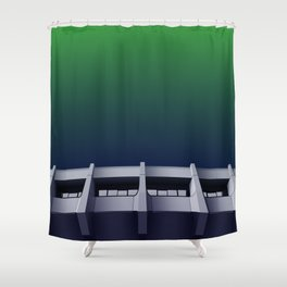 I want to believe - brutalism and UFOs Shower Curtain