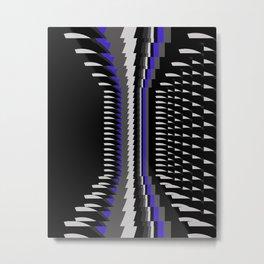 Interesting Unbalanced Stripes Metal Print