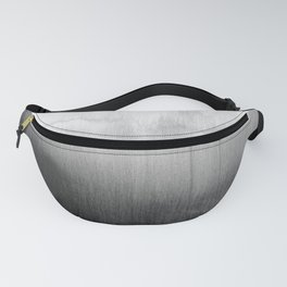 Modern Black and White Watercolor Gradient Fanny Pack
