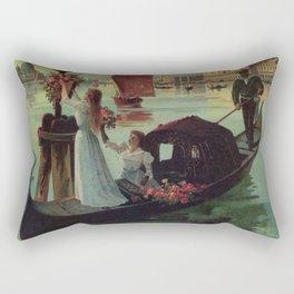 Paris Venice Victorian romantic travel Rectangular Pillow