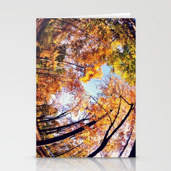 Fisheye Fall  Stationery Cards
