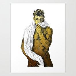 Joey - NOODDOOD (Gold not shiny) Art Print