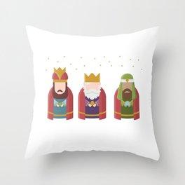 Three Kings Epiphany Day Throw Pillow