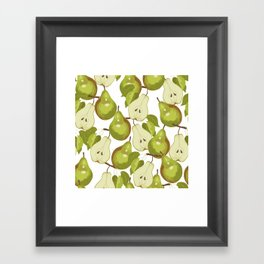 Pears Pattern Framed Art Print