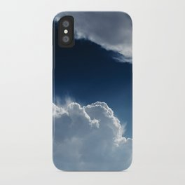 Sky, clouds and lights. iPhone Case