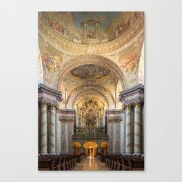 Organ of Herzogenburg Abbey church (Lower Austria) by Johann Hencke (1752) Canvas Print