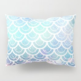 Mermaid Scales Turquoise Pink Sunset Pillow Sham