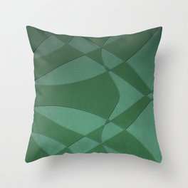Wings and Sails - Green and Light Green Throw Pillow