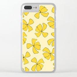 Flower Twirl Clear iPhone Case