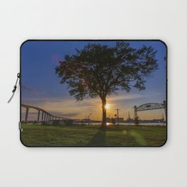 Sunset At Elizabeth River Park Laptop Sleeve