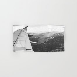 Mountain State // Colorado Rocky Mountains off the Wing of an Airplane Landscape Photo Hand & Bath Towel