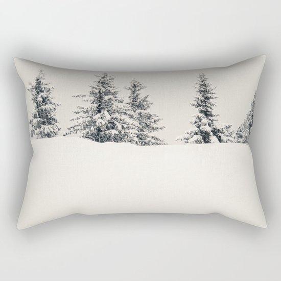 Fir Trees In A Winter Landscape Rectangular Pillow