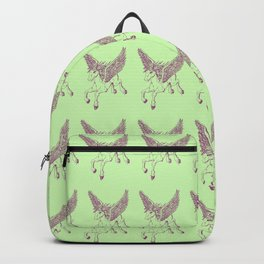 Ancient Pegasus Mythical Mythology Color Pattern Backpack