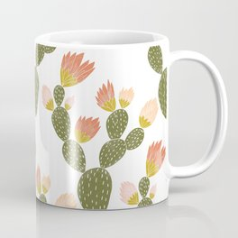 Flowering Cactus Pattern Coffee Mug
