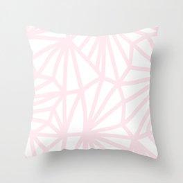 Handmade minimal geometric pattern - pastel pink #decor Throw Pillow