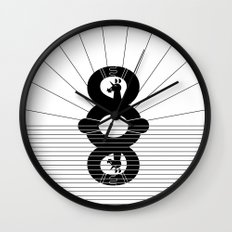 Eight Stretches A Day Unicorn Wall Clock