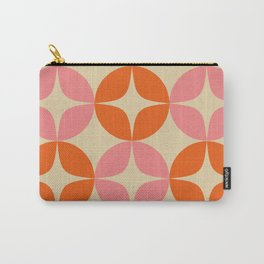 Mid Century Modern Pattern in Pink and Orange Carry-All Pouch