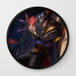 Classic Twisted Fate League Of Legends Wall Clock
