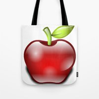 apple Tote Bags featuring APPLE by Acus