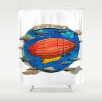 led zeppelin Shower Curtains featuring Zeppelin by sugu