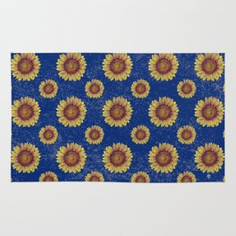 Swirly Sunflower Rug