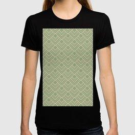 Paris - Classic Green Beige Geometric Minimalism T-shirt