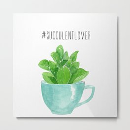 succulent lover Metal Print