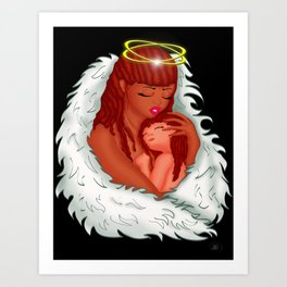Angel's Love Art Print
