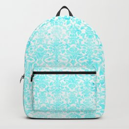 Aqua Blue Damask Backpack