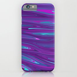 Pink, Purple, and Blue Waves 2 (rotated) iPhone Case