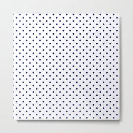 Dots (Navy Blue/White) Metal Print