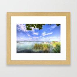 Lake Balaton Summer Framed Art Print