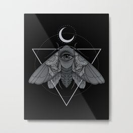 Occult Moth Metal Print