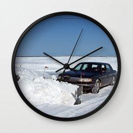 Lincoln Plow Car Wall Clock