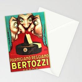 Vintage Parmigiano Reggiano Bertozzi Cheese Advertisement Wall Art Stationery Cards
