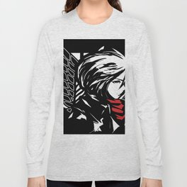 Mikasa Ackerman from SNK Long Sleeve T-shirt