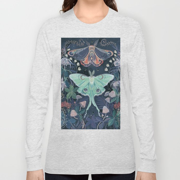 Luna Moth Long Sleeve T-shirt