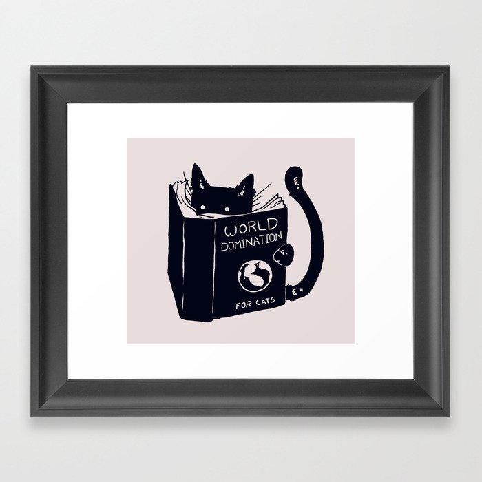World Domination For Cats Gerahmter Kunstdruck