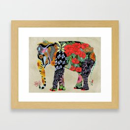Ms. Ele Phant Framed Art Print