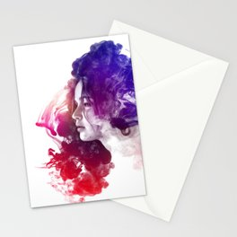Jennifer Lawrence Watercolor Portrait Stationery Cards