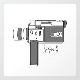 Super 8! Art Print