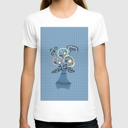 Quilling, flowers in vase T-shirt