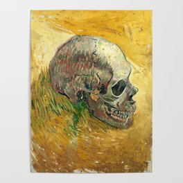 Van Gogh Skull Painting Poster