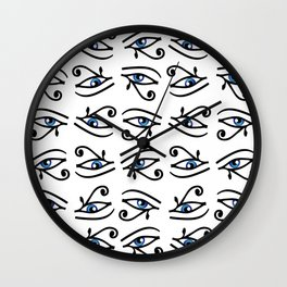 Egyptian Eye of Horus or wadjet is a symbol of royal power and protection Wall Clock