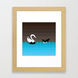 THE RAVEN & THE SWAN Framed Art Print