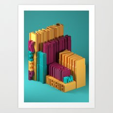 Typographic Insults #3 Art Print
