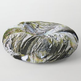 Curves Of Time Floor Pillow