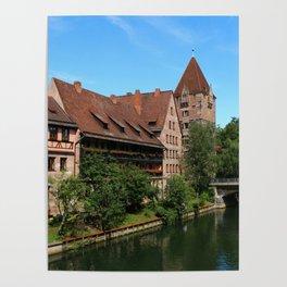 At The Pregnitz - Nuremberg Poster